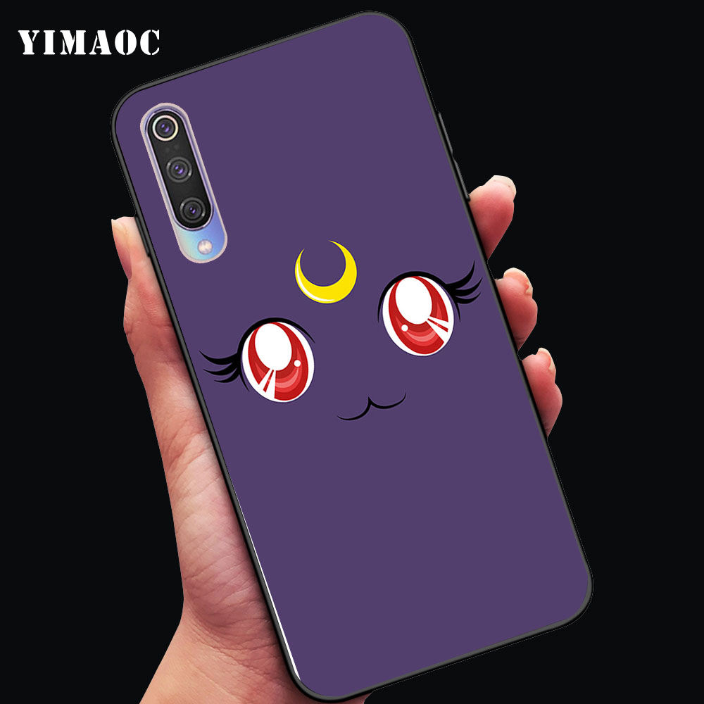 YIMAOC sailor moon scepter luna Soft Case for Xiaomi Mi5 Mi5S Mi6 Mi9 Mi8 Lite SE A1 A2 Lite Pocophone F1 MAX 3 in Fitted Cases from Cellphones Telecommunications
