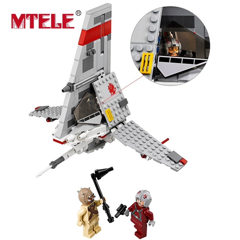 MTELE STAR WAR BELA10372 246 Pcs T-16 Jump Space Fighter Building Blocks Bricks Figure Toys Gift Compatible With Lego