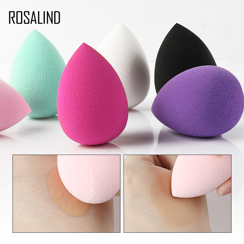 ROSALIND 1pcs Cosmetic Makeup Sponge Beauty Puff Foundation Make Up Face Care 6 Color Sponge Beauty Tools Accessories