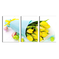 Free shipping 3 Panels HD paintings canvas wall art Yellow Rose Themed Home Bedroom Decorated Cute Gift paintings for wall