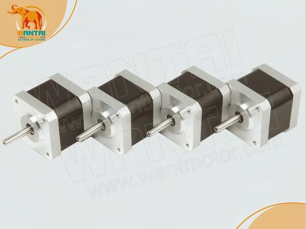 4PCS Wantai 4-lead Nema17 Stepper Motor 42BYGHW609P1 D-shaft 56oz-in 40mm 1.7A CNC 3D Printer, Reprap,free ship4PCS Wantai 4-lead Nema17 Stepper Motor 42BYGHW609P1 D-shaft 56oz-in 40mm 1.7A CNC 3D Printer, Reprap,free ship