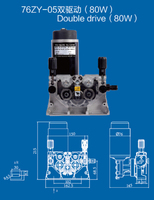76ZY-05  Mig Wire Feeder Motor Feeding Machine DC24 1.0-1.2mm 2.0-24m/Min 1PK for MIG MAG Welding Machine JINSLU SALE1