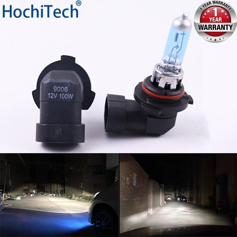 Faro de coche bombilla halógena súper brillante 1 piezas 9006 HB4 12V 6000K luces antiniebla transparentes 3000Lm 100W lámpara de conducción azul oscuro de xenón de 55W