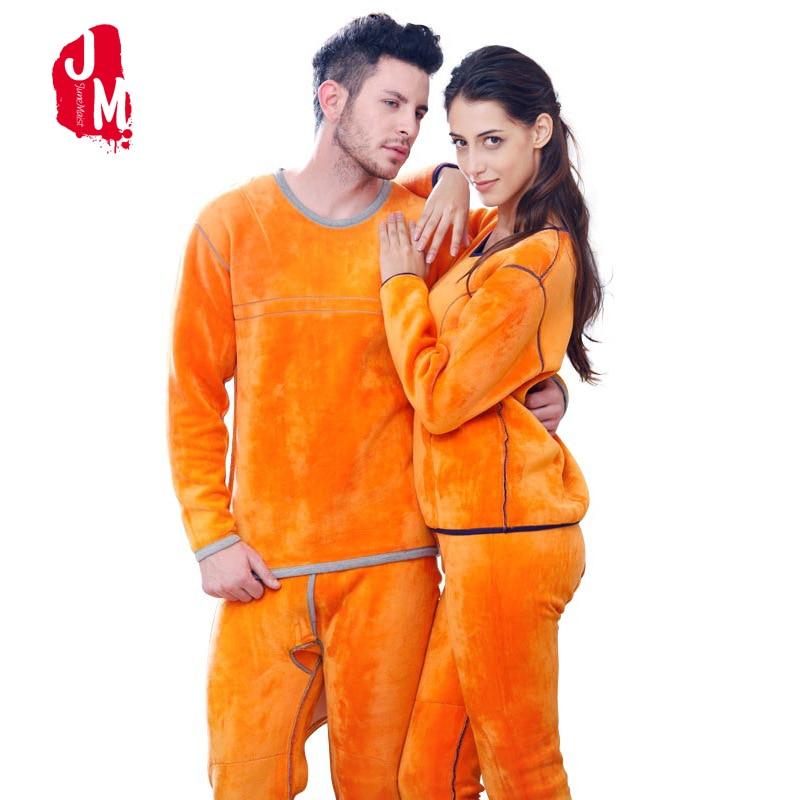 Hiver Couple avertir sous-vêtement thermique ensemble pour femmes hommes couches vêtements cachemire velours épais thermique longs Johns grande taille XXXL