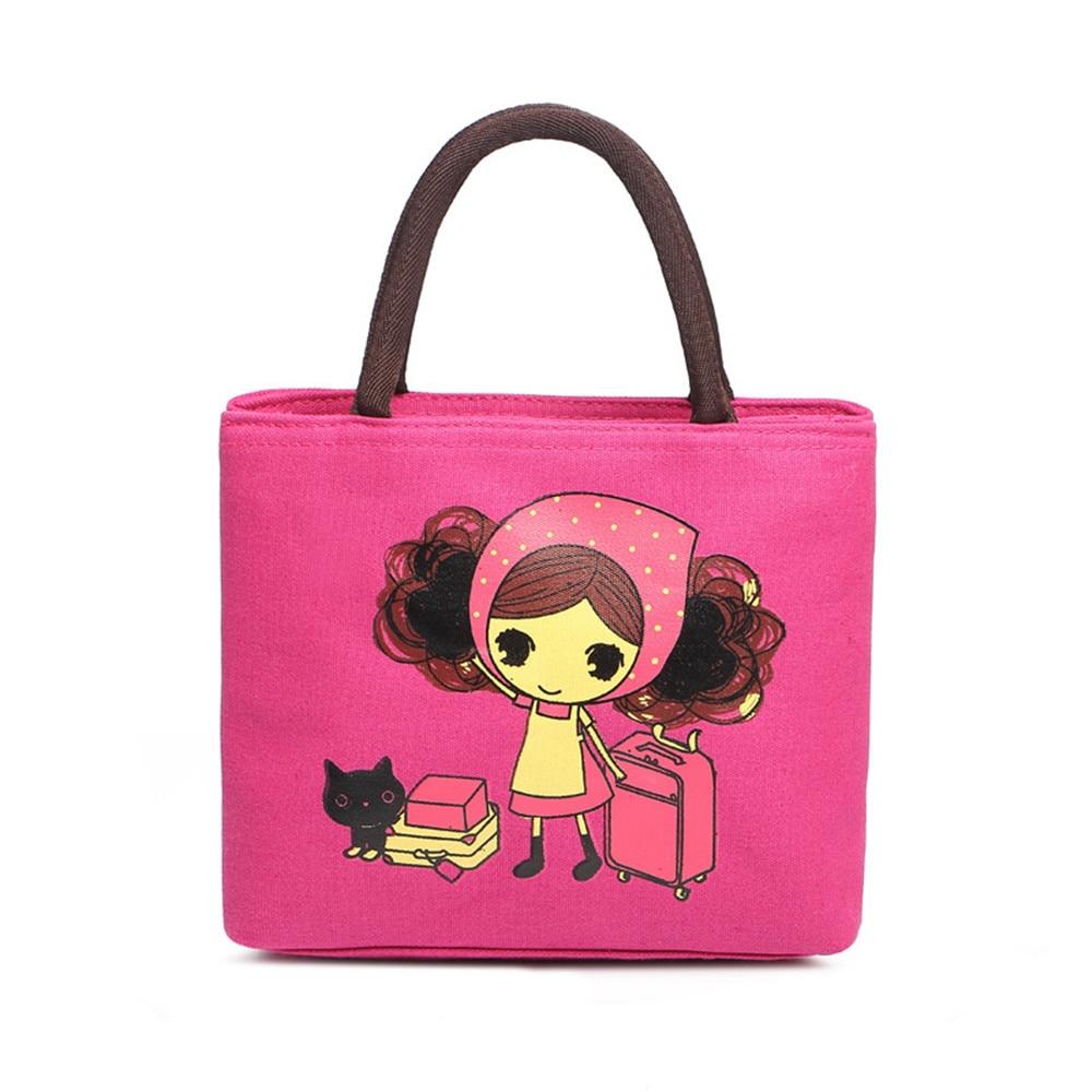 893c4dab4a 2017 Hot Selling Cartoon Kitten Handbag Canvas Casual Shoulder Bag Cat Bag  Little girl handbag Mummy Bag-in Top-Handle Bags from Luggage   Bags on ...