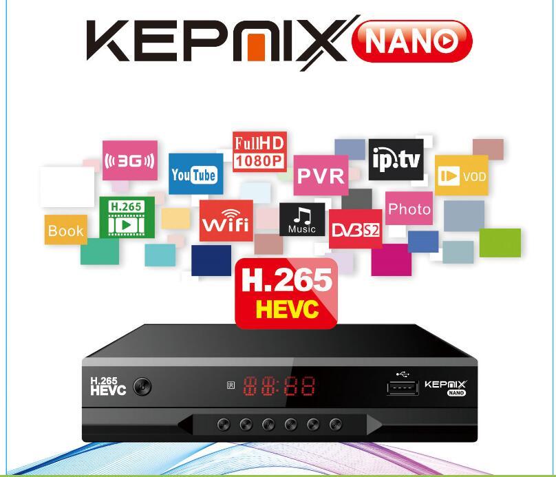 DVB S2 hevc спутниковый ресивер Kepnix nano h.265 2 шт. xtream поддержка PowerVu Biss cam Youtube Wifi 3g