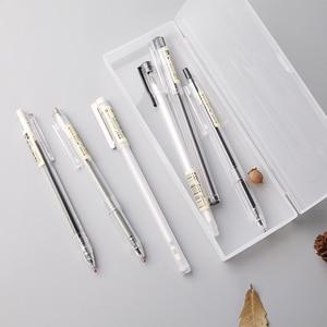 Image 3 - M&G 10/20pcs Ultra Simple Style Gel Pen Set 0.35 0.38 0.5mm free box Ink Black Gel Pens for Office School Japanese gelpen