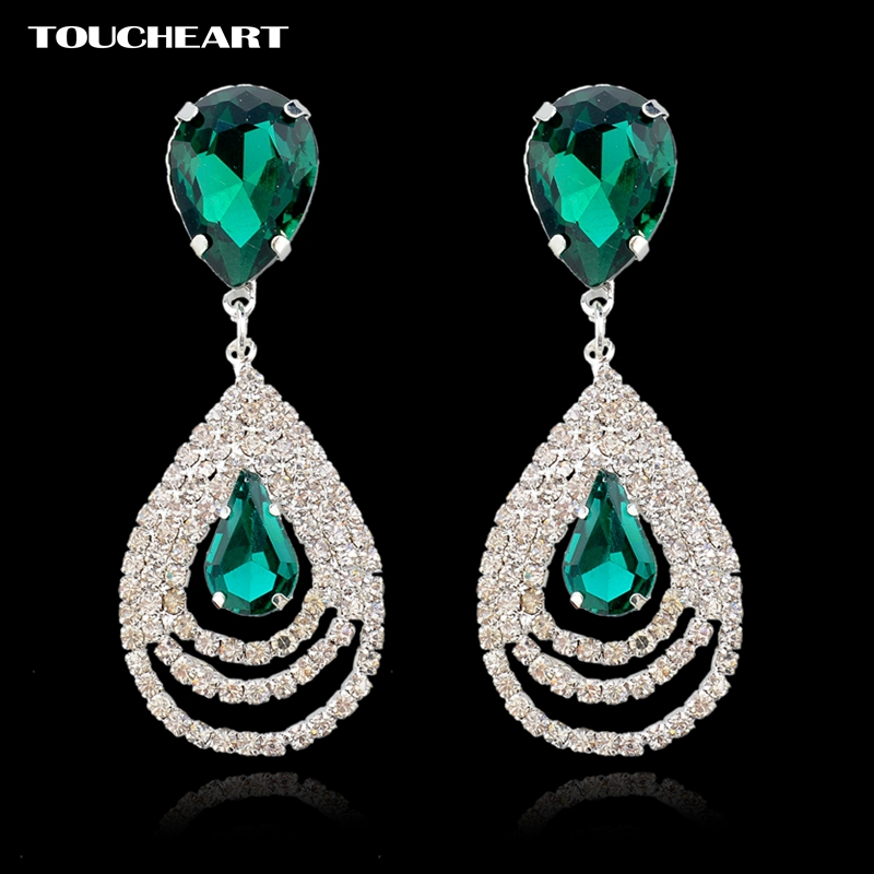 TOUCHEART Crystal Rinestone Long Earrings Fashion Jewelry ...