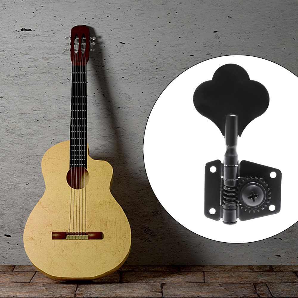 4 pcs Đàn Guitar Chỉnh Chốt Electric Bass Tuner Peg Đen Guitar Mở Bánh Răng Điều Chỉnh Pegs Máy Heads đối với Fender Jazz bass Guitar