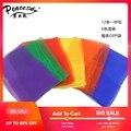 2019 Шелковый квадратный шарф женский модный 12 шт. подшиты квадратные жонглирующие танцевальные шарфы (разные цвета) TJK002 - фото