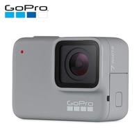 GoPro HERO7 белая Водонепроницаемая цифровая Экшн камера с сенсорным экраном 1080 p HD видео 10MP фотографии