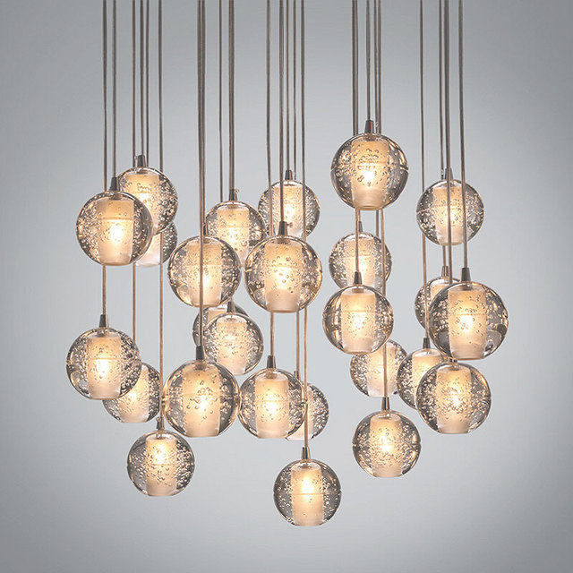 36 lights modern clear cast glass ball meteor shower chandelier 36 lights modern clear cast glass ball meteor shower chandelier wtith polished chrome stainless steel lighitng aloadofball Image collections