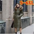 Plus size 6XL 90% White duck down jacket Women ultra light down parka 2016 winter coat women new hooded thin long overcoat  629