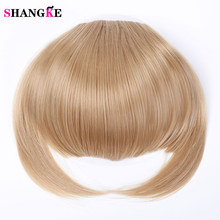 SHANGKE Short Front Neat bangs Clip in bang fringe Hair Extensions Straight Synthetic Hair Piece 15 Color High Temperature Fiber(China)