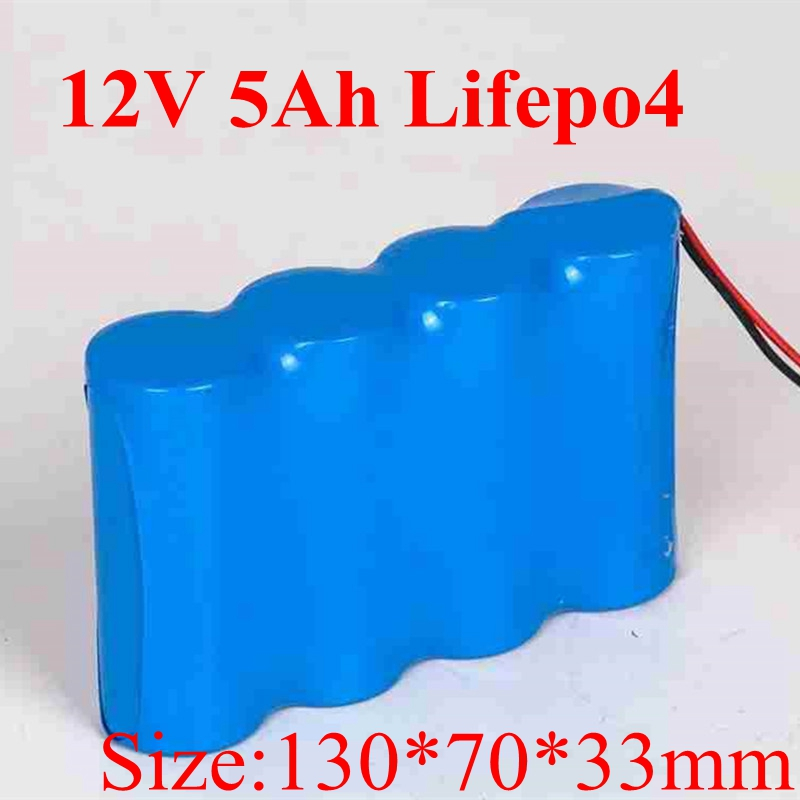 LifePo4 12V 5000mah Battery 12 6V IFR 32650 5000mah Bateria for RC Toys Miner Light LED