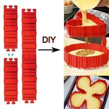 4 шт./компл. силиконовая форма для выпечки Magic форма для торта змея DIY прямоугольные сердце Форма круглая форма для выпечки инструменты для выпечки