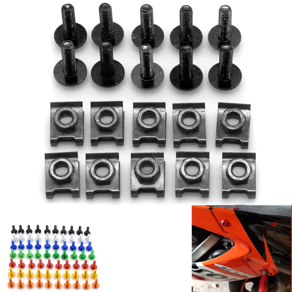 6MM CNC Motorcycle Accessories Fairing body work Bolts Screws for Brutale 800/RR Rivale 800 Turismo Veloce 800 Brutale 675