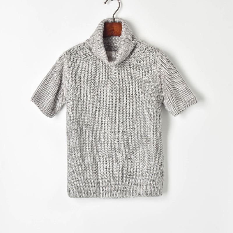 Luxury White Korea 2019 Runway Solid t shirt Harajuku Women Knitted Turtleneck Hot Drill Tee Shirt Femme Casual Short Sleeve Top