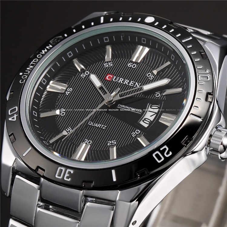 Montres hommes Top marque de luxe CURREN 2018 hommes montres en acier complet montre à Quartz analogique étanche sport armée militaire montre-bracelet