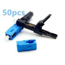 50pcs SC UPC Fast Connector Embedded adapter support 0.9mm 2.0mm 3.0mm Indoor FTTH Flat Cable Fast/Quick adapter Field Assembl(China)