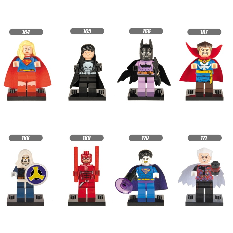 Single Sale Super Heroes Marvel Avengers Supergirl Daredevil Punisher Building Blocks Bricks Best Gift Kids DIY Baby Toys(China)