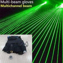 Зеленый лазерный реквизит 532 нм зеленые перчатки могут быть настроены многолучевые перчатки