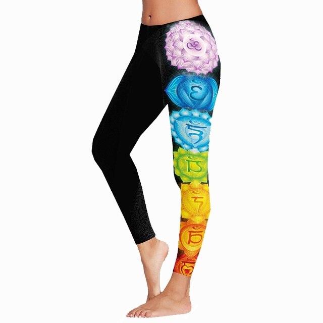 3fe99c5f6f045e Gigoteuse hiver épais tissu egypte style indien Lotus Floral noir Mandala  Leggings nouvelle grande taille XL femmes athlétique Yoga pantalon