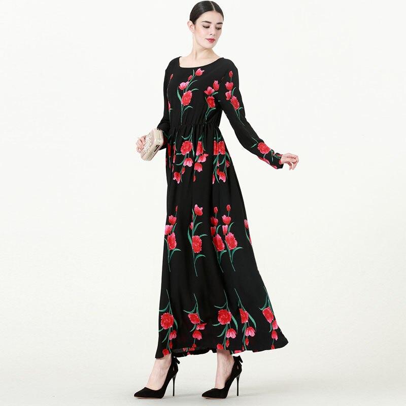 2019 Abaya Dubai Robe longue Musulmane Qatar ÉMIRATS ARABES UNIS Arabe Hijab Robe Caftan Robe Musulmane Abayas Pour Femmes Turc vêtements islamiques