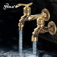 Luxury Antique Brass Decorative Outdoor Faucet Garden Bibcock Tap Bathroom Washing Machine mop Faucet Washing Machine Taps C22