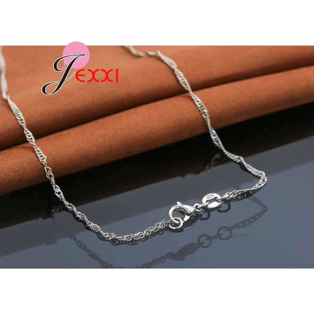 New Sterling Silver Crystal Cubic Zircon Purse Design Pendant Necklace Chain
