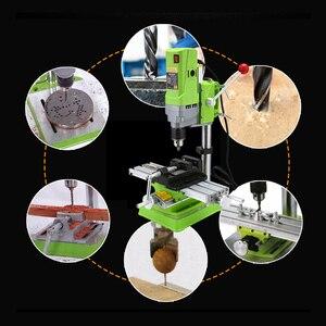 Image 4 - AMYAMY מיני מכונת קידוח מקדחת עיתונות ספסל קטן חשמלי תרגיל מכונת עבודת ספסל ציוד כונן 220V 710W האיחוד האירופי תקע 5156E