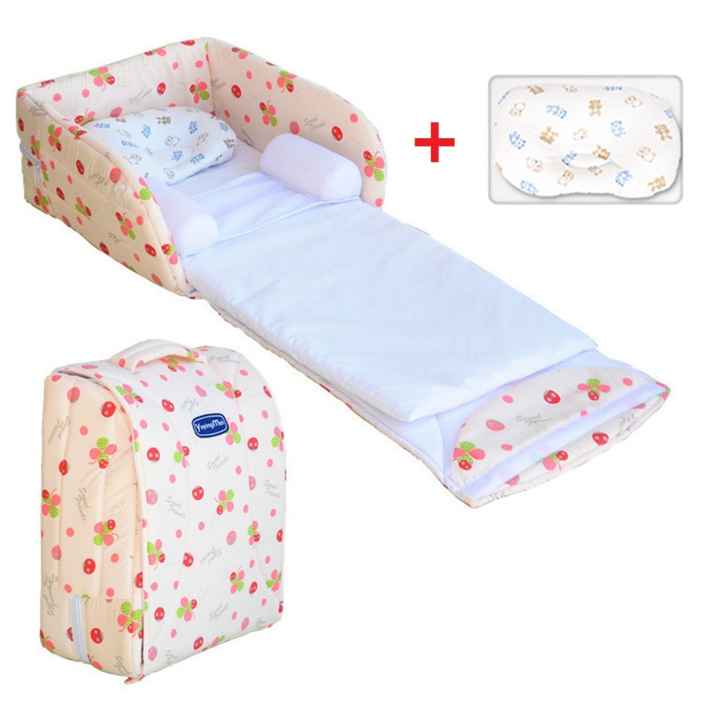 Cotton Baby Crib On The Bed Portable Folding Travel Bed Baby Sleep Positioning Crib Newborn Anti-rollover Baby Safety Bed