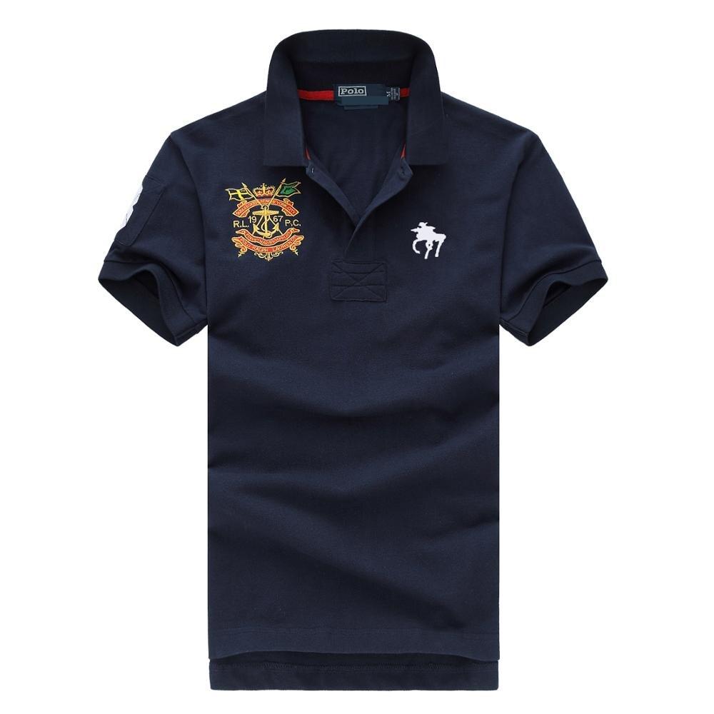 Mens Clothing 2019 classic Summer Brand Short Sleeve   Polo   Shirt Men Casual Regular cotton luxury designer Homme Solid Slim   Polos