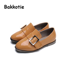 Bakkotie 2017 New Fashion Spring Autumn Baby Boy Children Casual PU Leather Slip On Shoe Kid Brand Toddler Leisure Square Toes