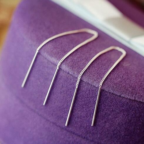 10CM Korean Fashion Silver Color  Long Line Earrings For Women Earrings Fashion