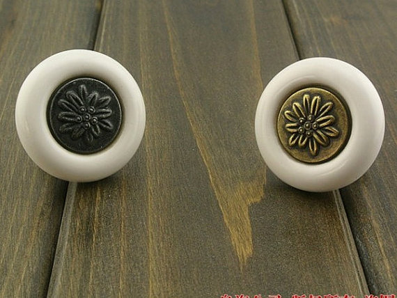 Dresser Knob Drawer Handles / Black White Antique Bronze Retro Kitchen Cabinet Knobs Furniture Handle Hardware Porcelain Ceramic dresser drawer pull handles kitchen cabinet knobs door handle knob porcelain antique black white furniture hardware ceramic