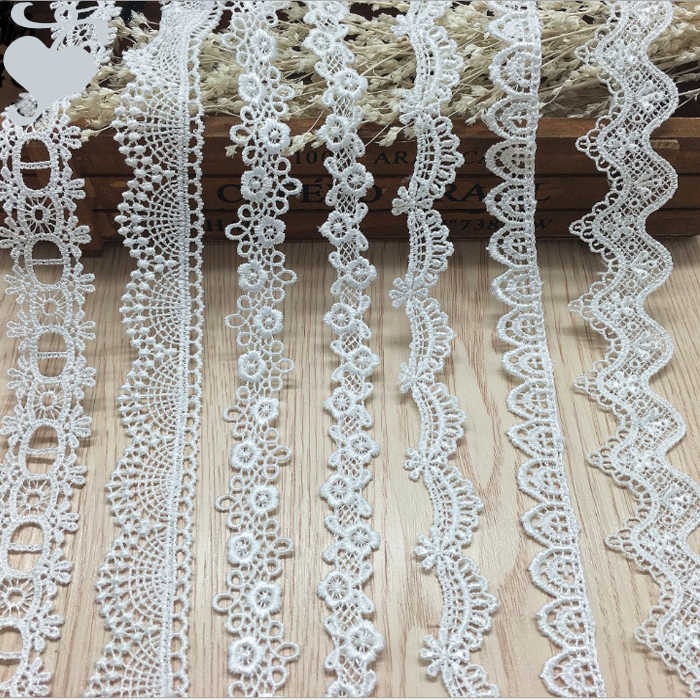 white Lace Ribbon DIY Sew Apparel Accessories Handmade Trims Wedding birthday party Scrapbook necklace Decoration