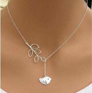 Высокое качество Bijoux ininfity Сердце Сова Кристалл крест лист минималистичные короткие Подвески до ключицы ожерелья для женщин ювелирные изделия цепи ожерелье - Окраска металла: N605silver