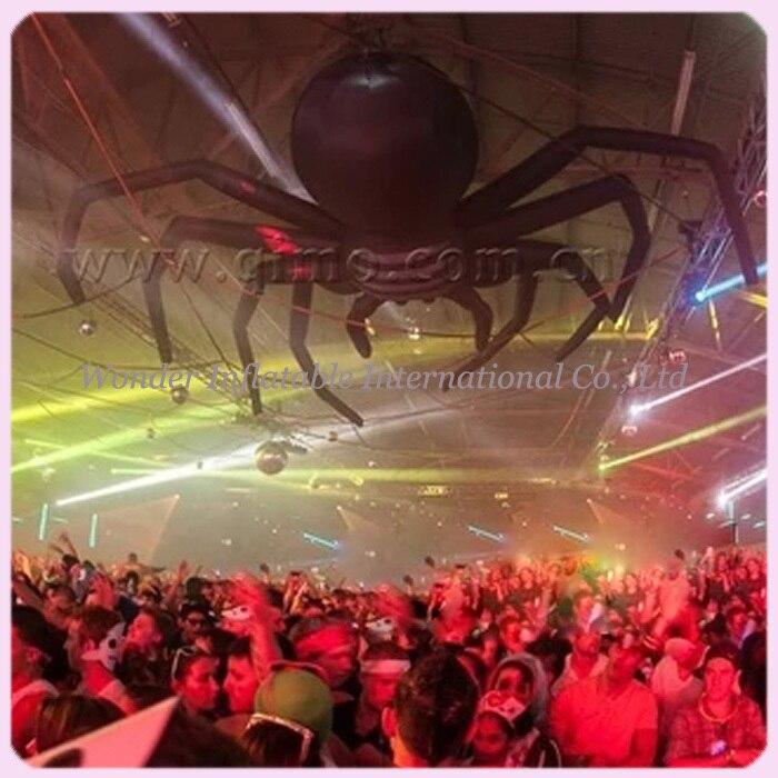 Araignée accrochante gonflable géante de décoration de partie de 10ft (3 M) à vendre