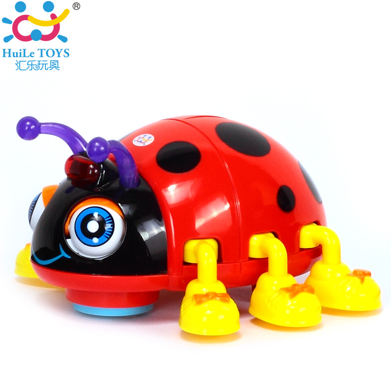 HUILE TOYS 82721D Baby Toy Cartoon Electric Ladybug Baby Learning Toy Crawl Educational Toys with Music & Light huile toys 3108 baby toys traveling picnic cooking suitcase toy included stove utensils plates toy meal bacon and eggs