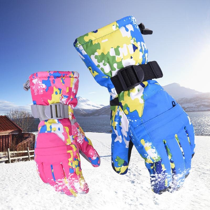 New Women Men Ski Gloves Snowboard Snowmobile Motorcycle Riding Mountain Children Winter Snow Gloves Windproof Waterproof Unisex