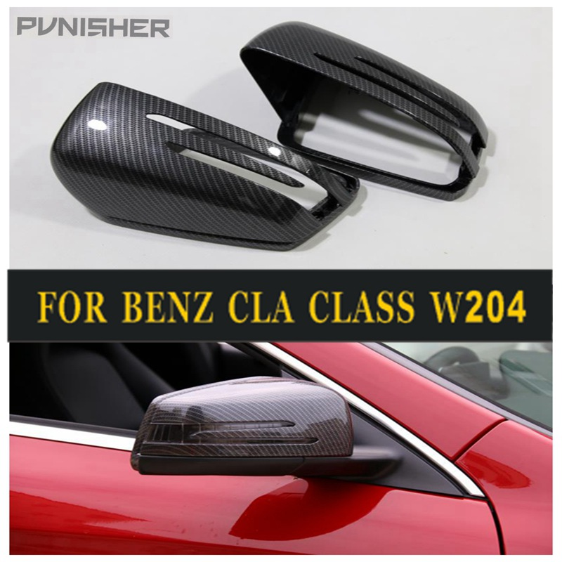 1:1 replace carbon  decorative pattern mirror shell Mercedes Benz A B C E S CLS GLK Class W176 W204 W246 W221 W212 W218 2PC/set1:1 replace carbon  decorative pattern mirror shell Mercedes Benz A B C E S CLS GLK Class W176 W204 W246 W221 W212 W218 2PC/set