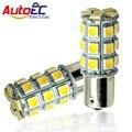 Autoec 2 pcs 1156 1157 27smd 5050 ba15s p21w bau15s bay15d P21/5 W Carro levou luz de Freio de Estacionamento Cauda Turn signal light bulb12V # LF05