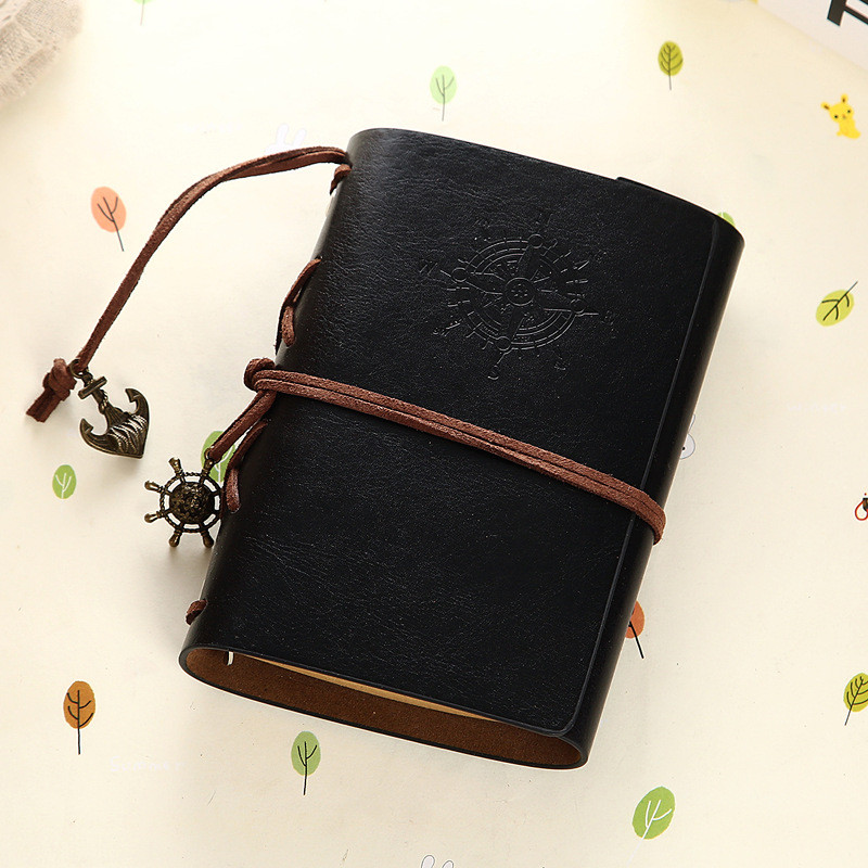 Vintage Notebook Leather Cover Journal Diary Blank String Nautical Traveler book office school supplies ON029 9