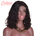 Natural Wavy Short Bob Wigs Peruvian Full Lace Wigs Human Hair Bob Wig Glueless Lace Front Short Human Hair Wigs For Black Women