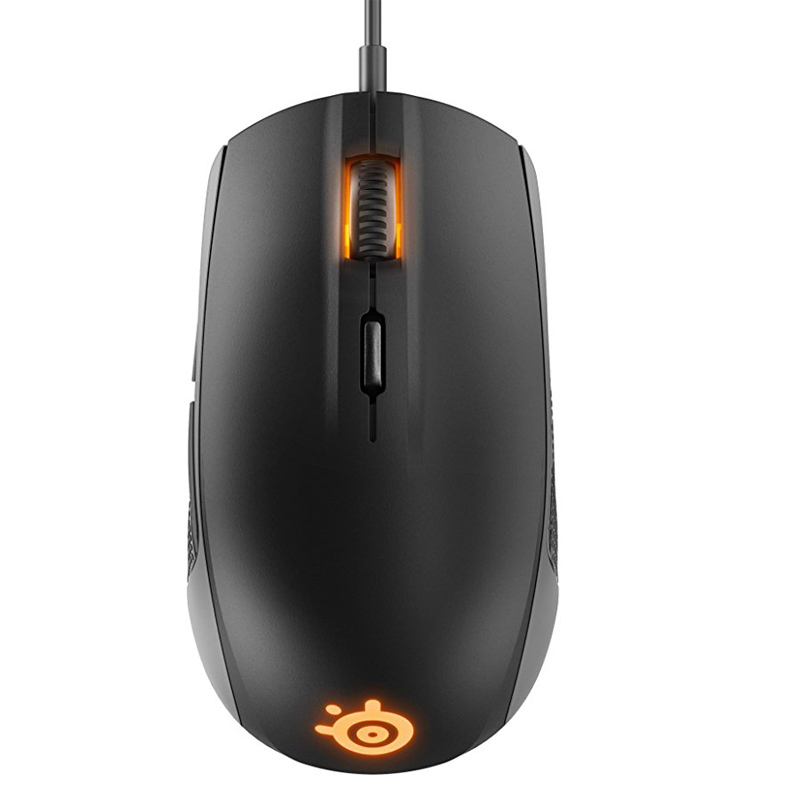 Brand New Steelseries Rival 100 gaming mouse RGB Backlight non-slip design 4000CPI For LOL PUBG - Black 18