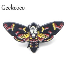 цены The Silence of the Lambs Mask Zinc alloy tie pins badges para shirt bag clothes cap backpack shoes brooches badges medals J0057
