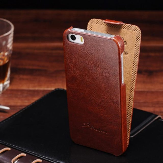 Vintage Flip PU Leather Case for iPhone 5 5S SE Luxury Phone Bag Cover for iPhone5 New 2016 with FASHION Logo Coque Fundas