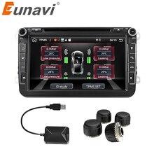 Eunavi Car TPMS Universal AndroidระบบตรวจสอบความดันยางสำหรับOSเครื่องเล่นDVD USBภายในพิเศษสำหรับรถยนต์ทั้งหมด