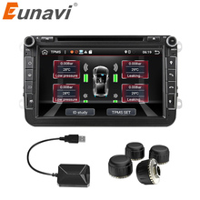 Eunavi Car TPMS Universal Android Tire Pressure Monitoring System for OS DVD Player USB Interface internal extra for all cars